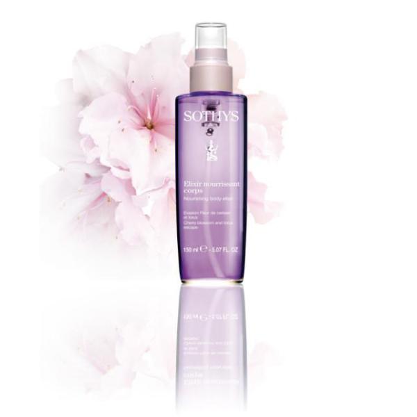 Elixir nourrissant corps Evasion Fleur de cerisier et lotus Sothys